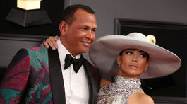 Športovec Alex Rodriguez a jeho partnerka Jennifer Lopez.