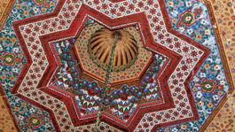 Marrákeš, Maroko, mozaiky, hviezda