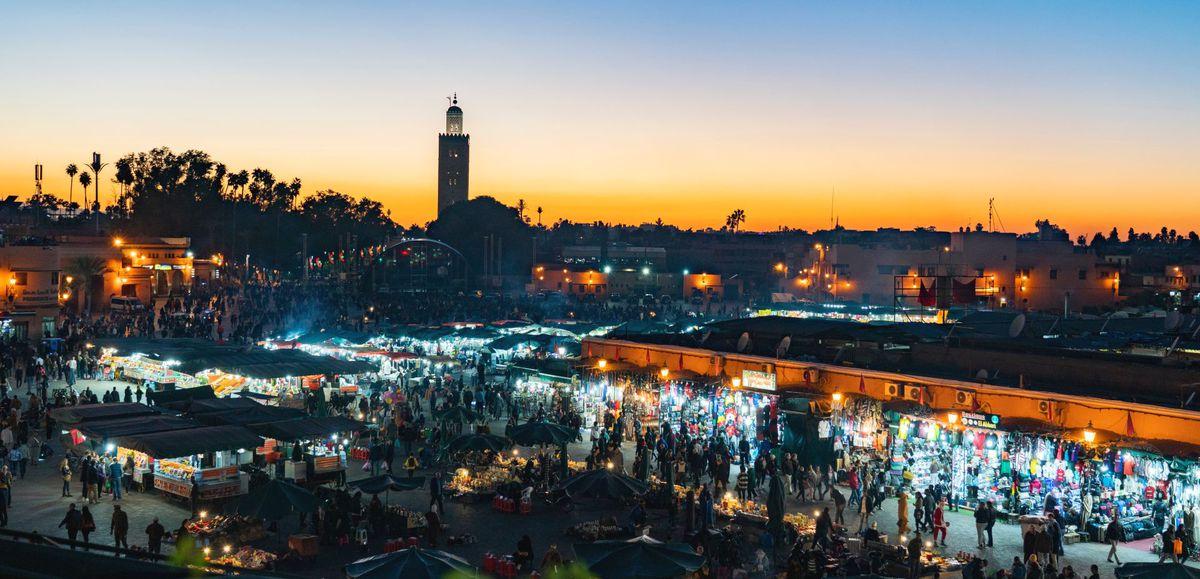 Marrákeš, Maroko, trhovisko,