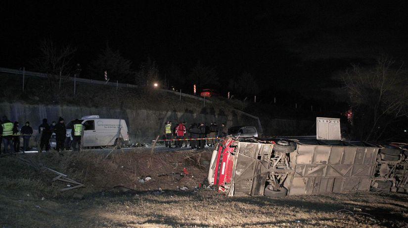 Severné Macedónsko autobus nehoda