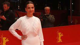 Prezidentka medzinárodnej poroty a herečka Juliette Binoche na festivale v Berlíne.