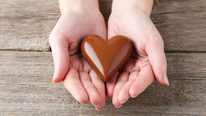 čokoláda, láska, srdce