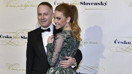 Andrea Verešová prišla aj s manželom Danielom Volopichom.