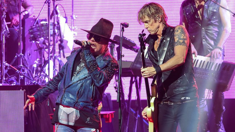 Axl Rose Guns N' Roses Duff McKagan