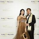 Lucia Hablovičová a jej kamarát - dizajnér Boris Hanečka, ktorý zhotovil aj jej šaty.