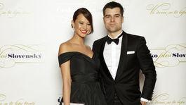 Moderátorka a bývalá modelka Monika Leová s partnerom.