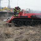 tank, vlak, hasiči, vykoľajenie