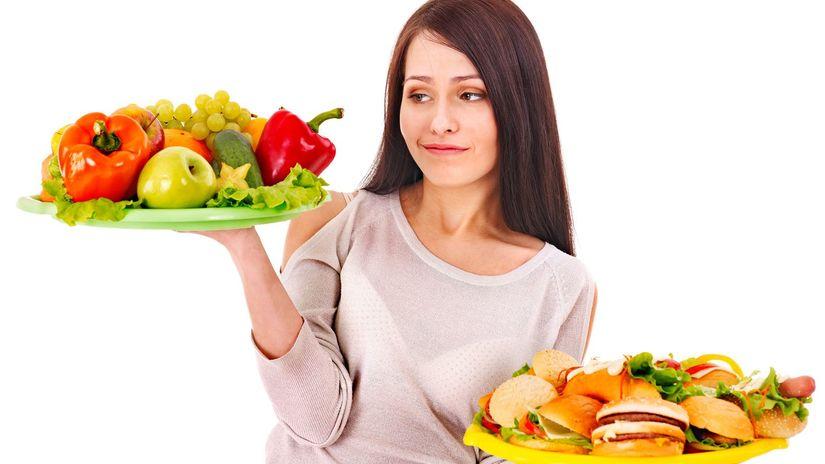 zdraviá strava, ovocie, zelenina, žena