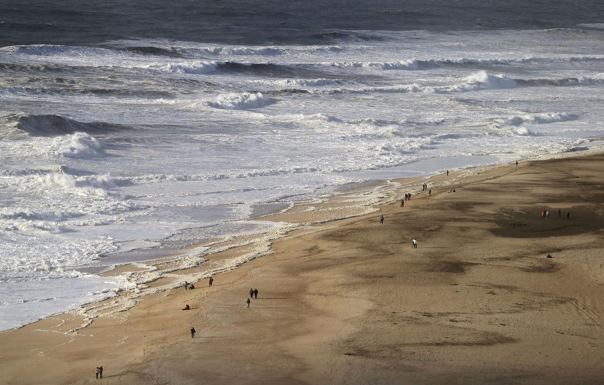 Portugalsko, pláž, more, oceán