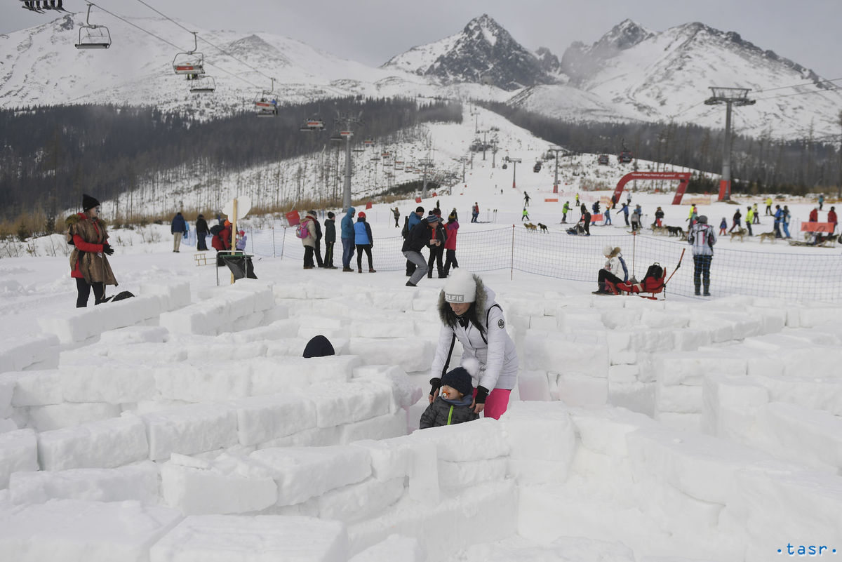 Vysoké Tatry, snežné psy podujatie, bludisko, sneh zima,