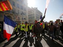 Francúzsko, žlté vesty, demonštrácia, pochod