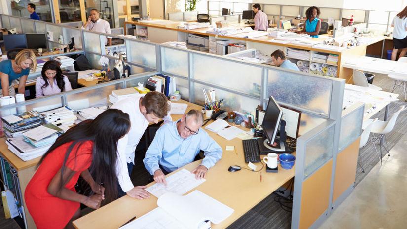 kancelária, kolegovia, práca, zamestnanci