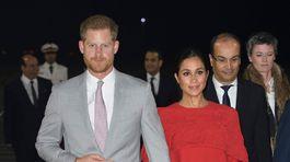 Princ Harry a jeho manželka Meghan, vojvodkyňa zo Sussexu počas návštevy Maroka.