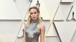 Herečka Brie Larson dorazila v trblietavej kreácii Céline.