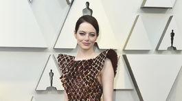 Herečka Emma Stone stavila na kreácii Louis Vuitton.