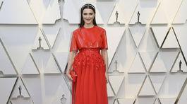 Nominovaná herečka Rachel Weisz v kreácii Givenchy Haute Couture.