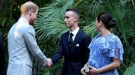 Princ Harry a jeho manželka Meghan, vojvodkyňa zo Sussexu sa stretli aj s korunným marockým princom Moulayom Hassanom.