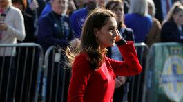 Vojvodkyňa z Cambridge Catherine počas návštevy Belfastu opäť zaujala pozornosť médií.
