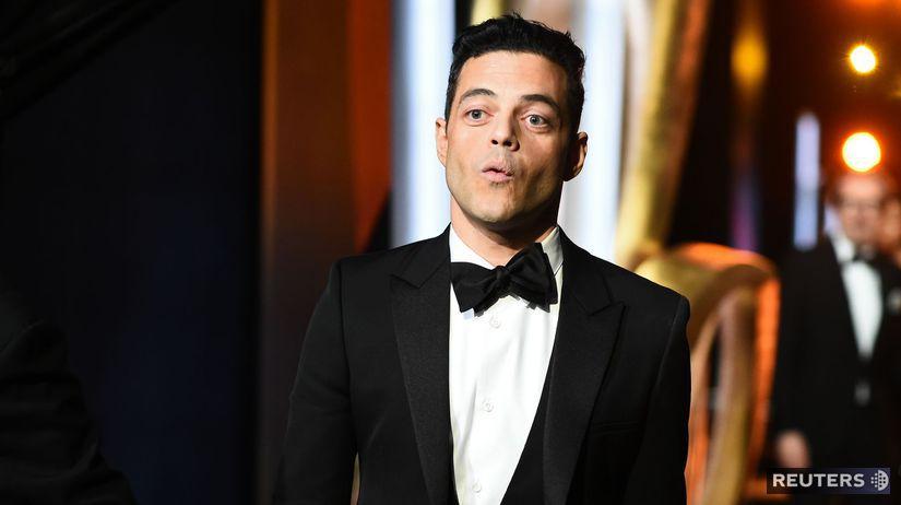 Herec Rami Malek na zábere z 91. ročníka Oscarov.