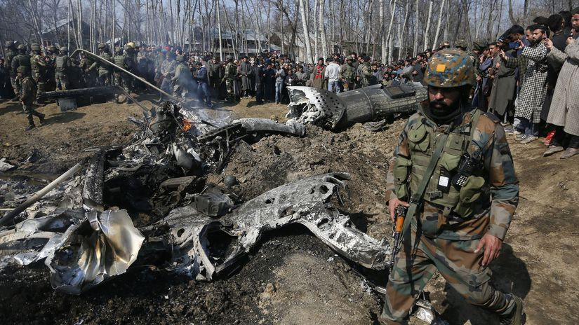 India, Pakistan, Kašmír, lietadlá, zostrelenie