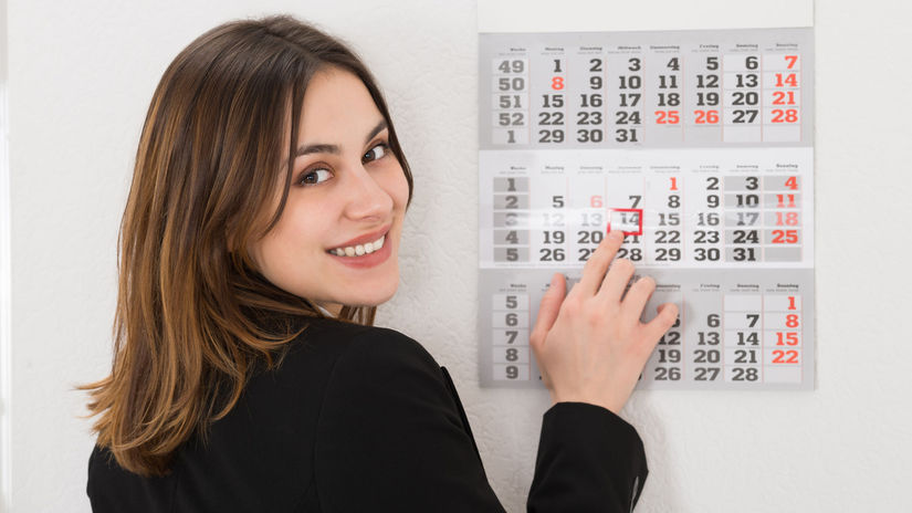 žena, kalendár