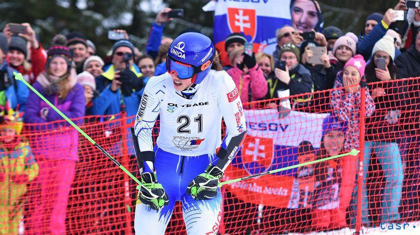 SR Jasná lyžovanie EP OS ženy 2. kolo vlhová