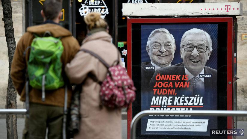 Soros Juncker plagát