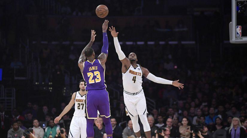 Nuggets Lakers Basketball james nba