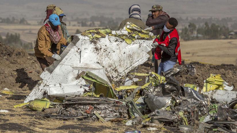 Etiópia lietadlo havária obete trosky