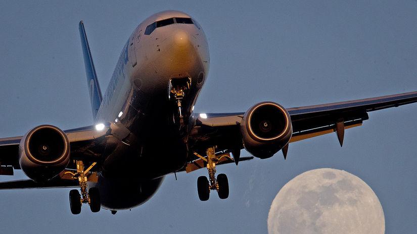 lietadlo, letisko, doprava, Frankfurt, Mesiac
