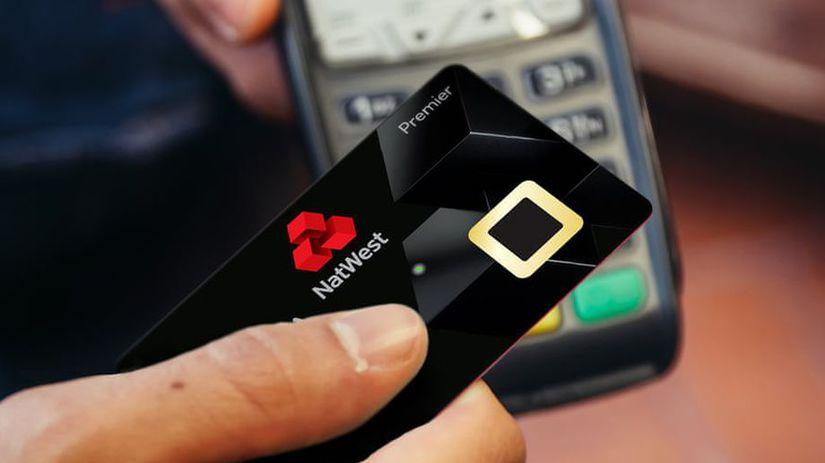 natwest, bezkontaktné platby, čítačka odtlačkov