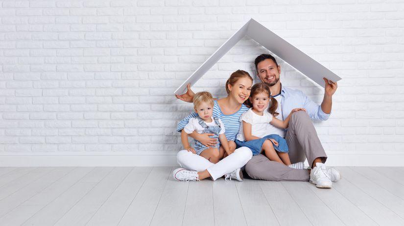 dom, rodina, strecha