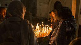 Izrael, modlitba, sviečky, chrám, Jeruzalem