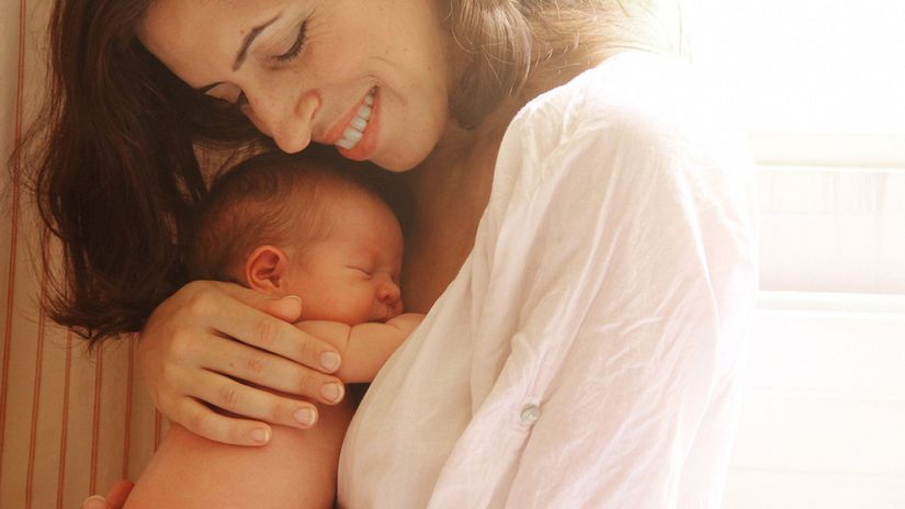 žena, dieťa, bábätko, matka