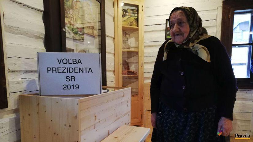 Vlkolínec, prezidentské voľby 2019