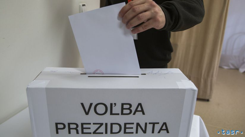 SR voľby 19 prezident 1. kolo urna obálka, väzeň