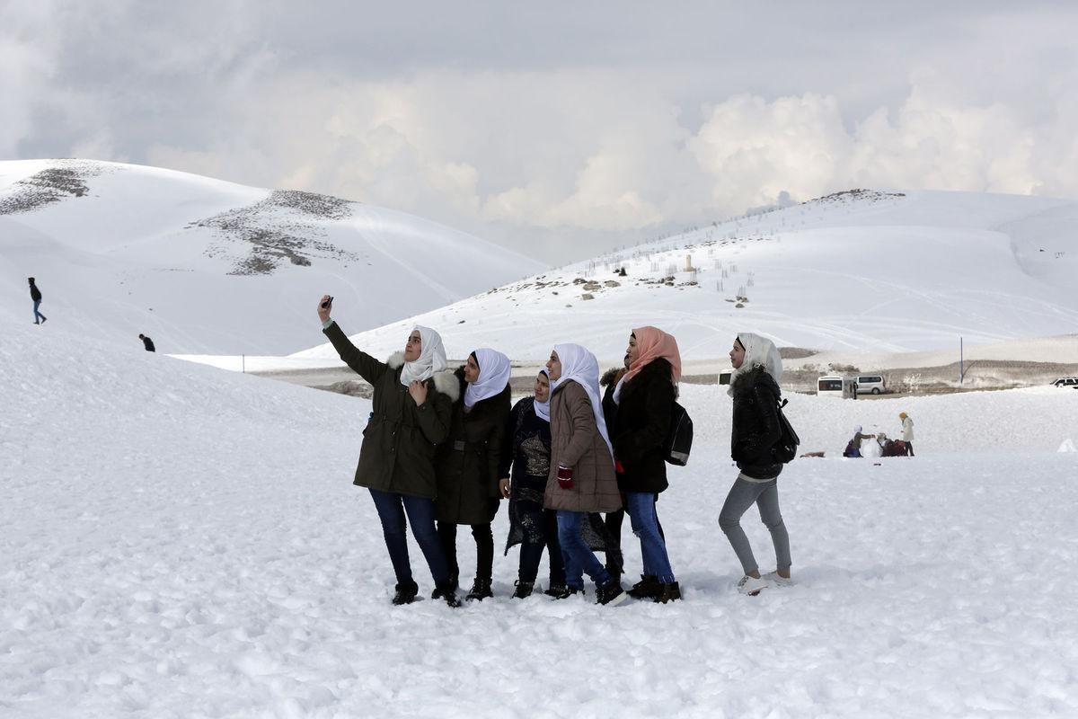 Libanon, sýrske dievčatá selfie
