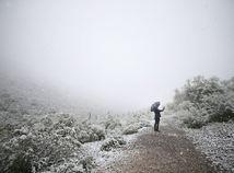 zima, sneh, počasie, mráz, Arizona, muž, dáždnik