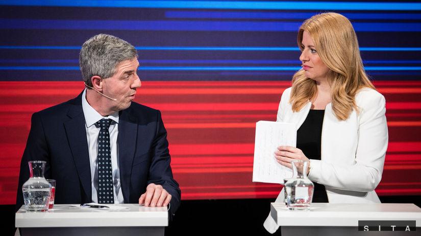 Čaputová Bugár voľby diskusia kandidátov na...