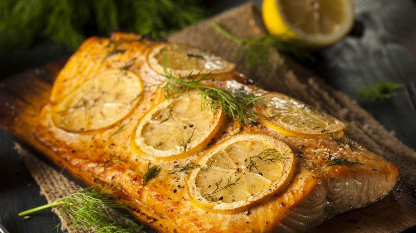 losos, ryba, citrón