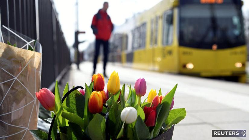 holandsko, utrecht, kvety, električka