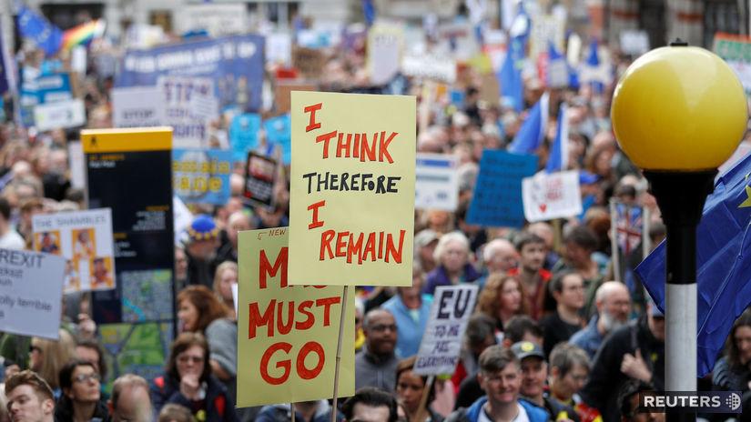 británia, protest, brexit