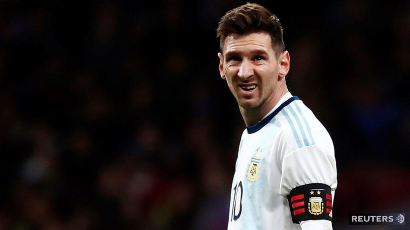 SOCCER-FRIENDLY-ARG-VEN/ Messi