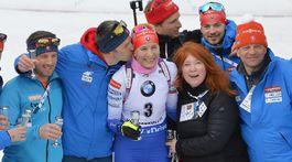 Nórsko SR SP biatlon ženy 9. kolo mass 12,5 km