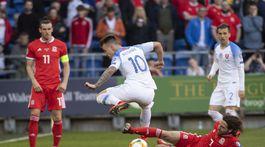 Wales Cardiff SR futbal kval ME E Slovensko