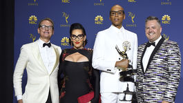 Carson Kressley, Michelle Visage, RuPaul Charles a Ross Mathews