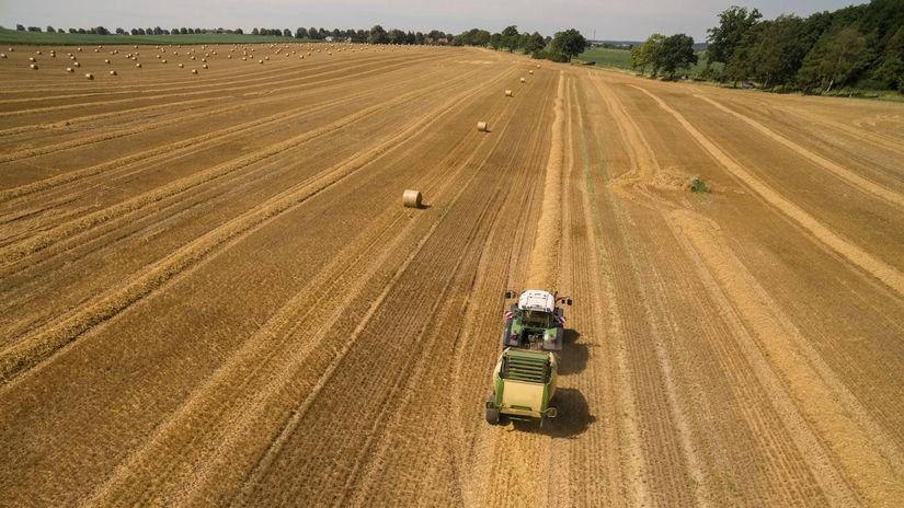 traktor, pole, pôda
