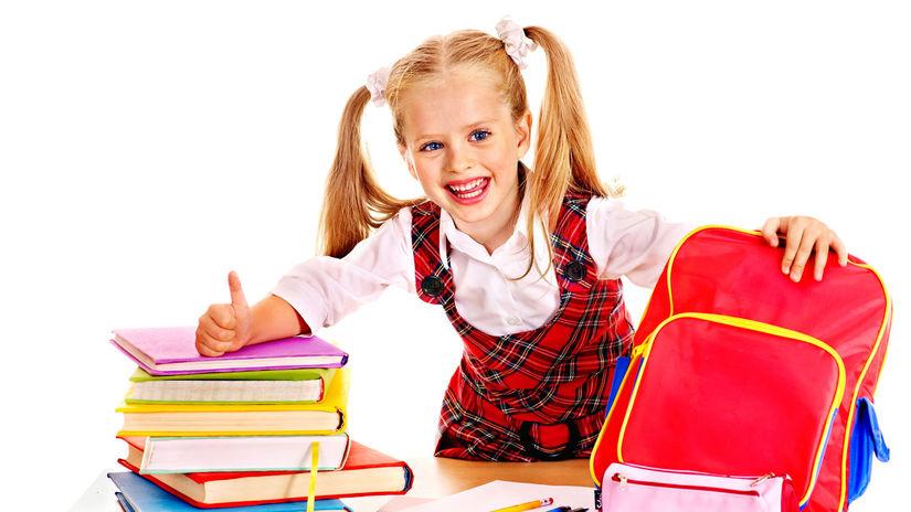 základná škola, dievča, žiačka