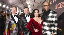 Zľava:  Carson Kressley, Ross Mathews, Michelle Visage a RuPaul si prevzali cenu EMMY aj v roku 2017.
