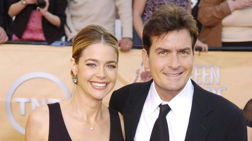 Herec Charlie Sheen a jeho exmanželka Denise...